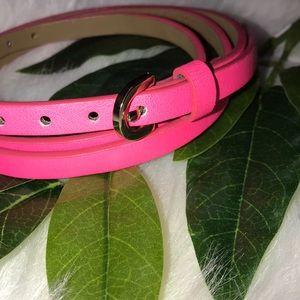 NEW J. Crew   Neon pink skinny belt
